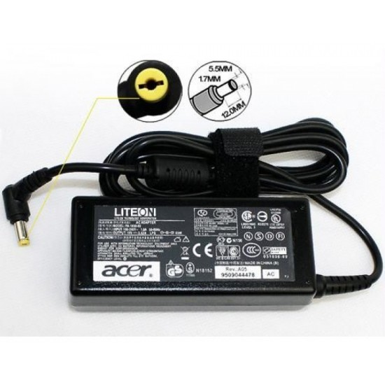 Acer 65W 19V/3.42A (YELLOW PIN) Laptop Adapter