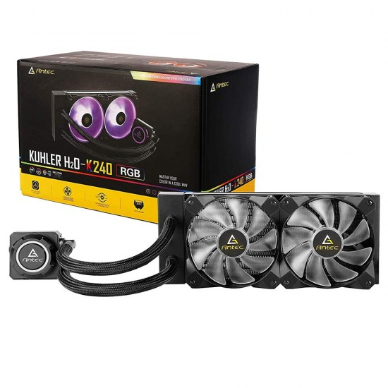 Antec Kühler H2O K Series K240 RGB All in One CPU Cooler with Powerful Liquid CPU Cooler