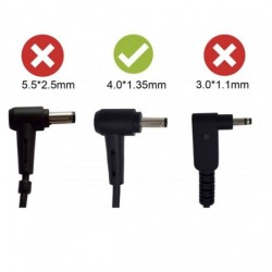Asus 19V 1.75A 33W Mini Pin Adapter Charger