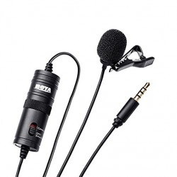 Boya BYM1 Omnidirectional Lavalier Condenser Microphone with 20ft Audio Cable