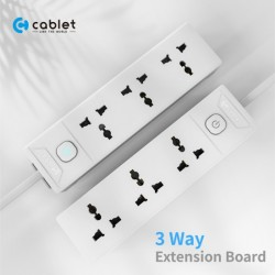Cablet 3 Socket 1 Switch and 4.5m Cable Extension Board
