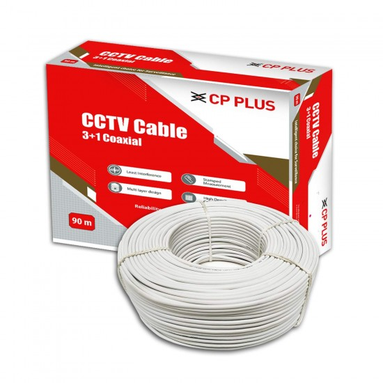 CP Plus 3+1 90 Meter Coaxial Cable