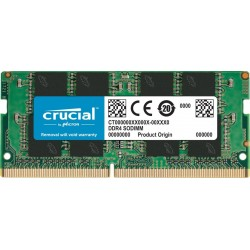 Crucial CT16G4SFD8266 16GB Single DDR4 2666 MT/s PC4-21300 DR x8 SODIMM 260-Pin RAM