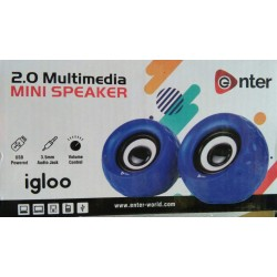 Enter 2.0 Multimedia Igloo USB Mini Speaker