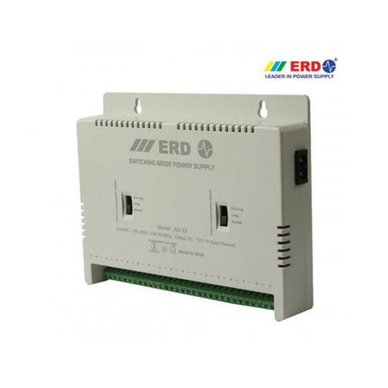 ERD AD-33 16 Channel CCTV Power Supply