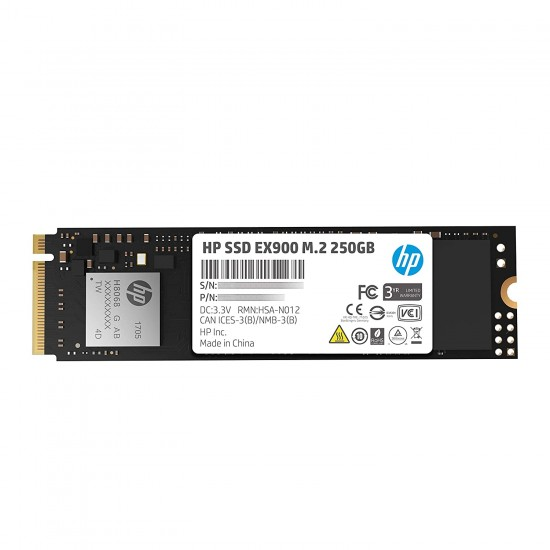 HP EX900 M.2 250GB PCIe 3.1 x 4 NVMe 3D TLC NAND Internal Solid State Drive