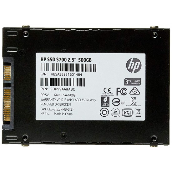 HP S700 500GB 2.5 Inch SATA Internal Solid State Drive