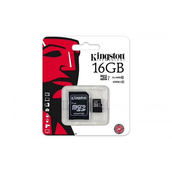 Kingston 16GB Class 10 UHS-I Micro SDHC Memory Card