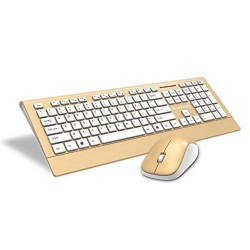Lapcare L999 Wireless Gold Keyboard & Mouse Combo
