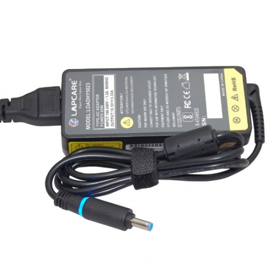 Lapcare LOADHY5023 65W 19.5 / 3.33A (BLUE SMALL PIN) Laptop Adapter for HP