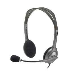 Logitech H110 Wired headset Stereo Headphones with noise-cancelling Microphone