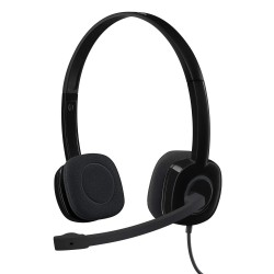 Logitech H151 Headset with Noise-Cancelling Boom Microphone 3.5 mm Analog Stereo