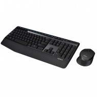 Logitech MK345 Wireless Combo – Full-Sized Keyboard with Palm Rest and Comfortable Right-Handed Mouse
