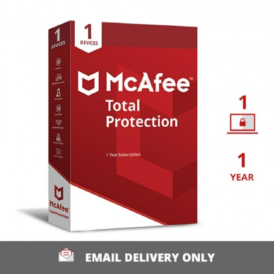 McAfee Total Protection Anti-Virus | 1 User 1 Year