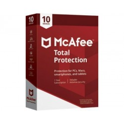 McAfee Total Protection Anti-Virus - 10 PC 1 Year