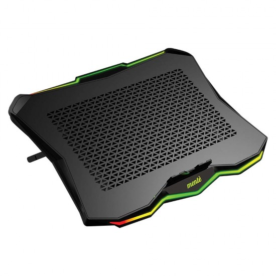 Mente RGB Gaming Cooling pad with Dual USB Ports Strong Metal Mesh LED Gaming Laptop Stand Compatible with 17.3 Inch Laptops
