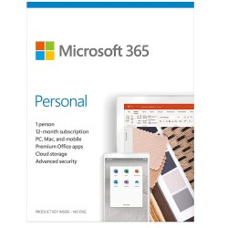 Microsoft Office 365 Personal | 1 User 1 Year