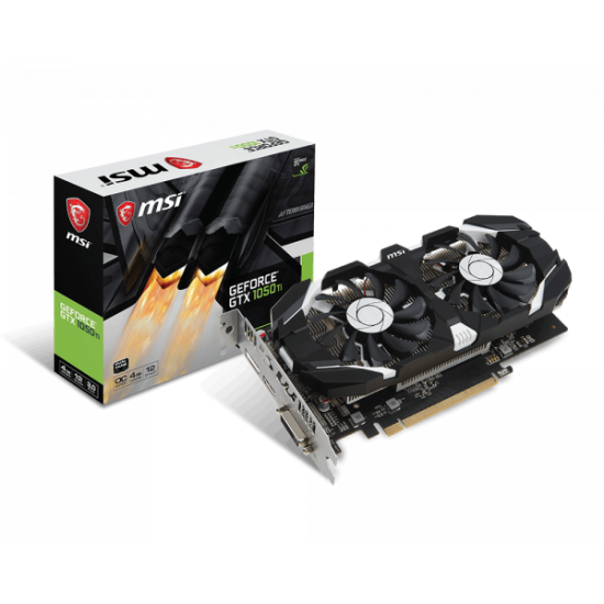 MSI GEFORCE GTX 1050 TI 4GT OC Graphic Card