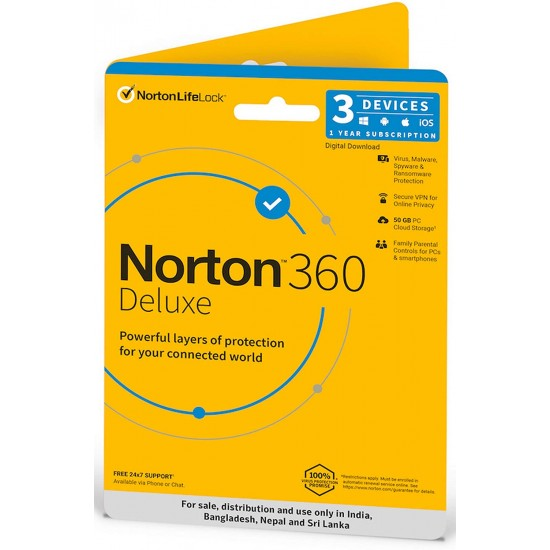 Norton 360 Deluxe | 3 Users 1 Year | Total Security