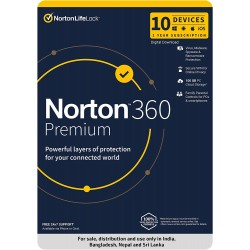 Norton 360 Premium | 10 Users 1 Year | Total Security
