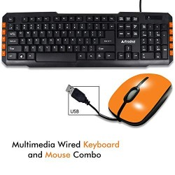 PRODOT TRC-107+273 USB Multimedia Wired Keyboard And Mouse Combo