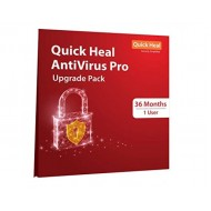Quick Heal Antivirus Pro | Renewal Pack | 1 User 3 Year