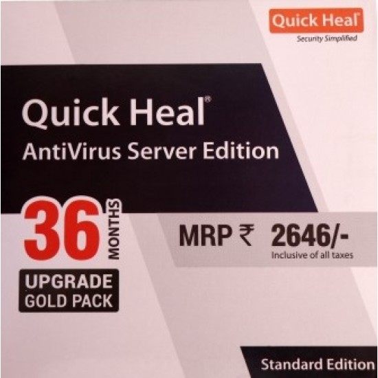Quick Heal Antivirus Server Edition | Renewal | 1 User 3 Year