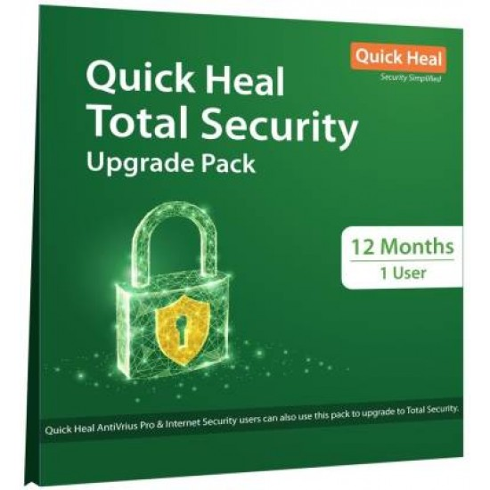 Quick Heal Total Security | Renewal Pack | 1 User 1 Year