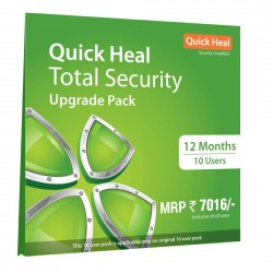 Quick Heal Total Security   Renewal Pack   10 User 1 Year