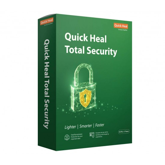 Quick Heal Total Security   Renewal Pack   10 User 3 Year