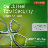 Quick Heal Total Security | Renewal Pack | 5 User 1 Year