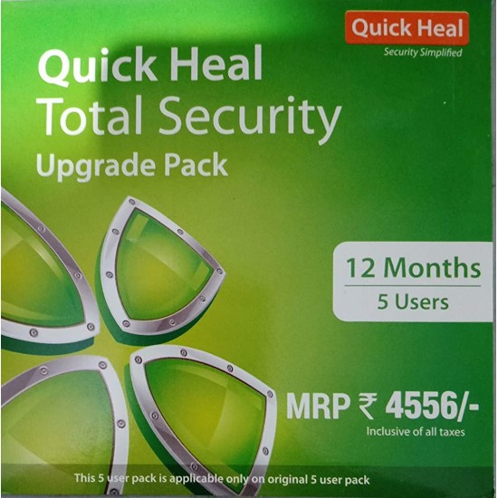 Quick Heal Total Security   Renewal Pack   5 User 1 Year