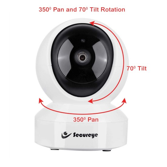 Secureye S-F40 2.0 MP Wi-Fi Wireless IP Indoor Home Security Camera