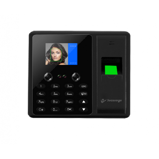 Secureye S-FB3K Fingerprint and Face Recognition Biometric IP Based Time and Attendance Machine