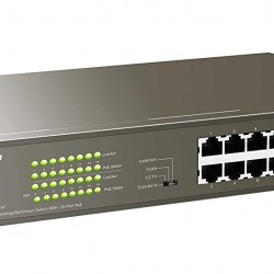 Tenda TEG1116P 1000M & PoE 16-Port Gigabit Ethernet Switch with 16-Port PoE