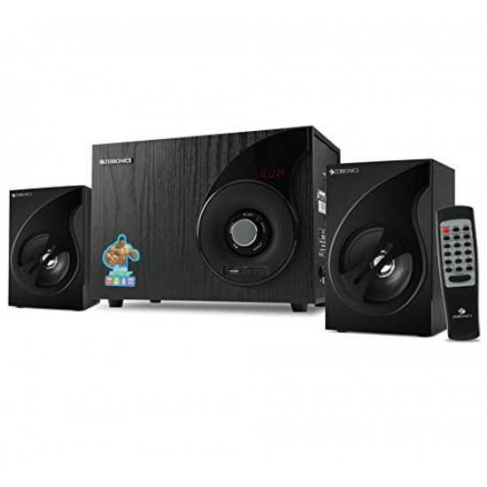 Zebronics ZEB-SW2494 2.1 Wired Speaker with FM, USB, SDCARD Slot and Remote