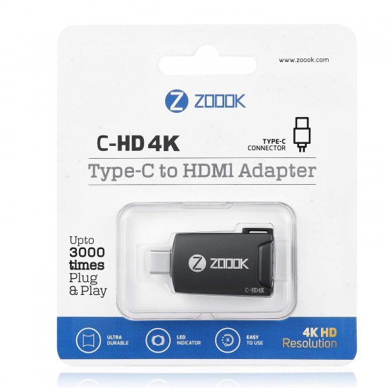 Zoook C-HD4K USB Type-C to HDMI 4K Adapter