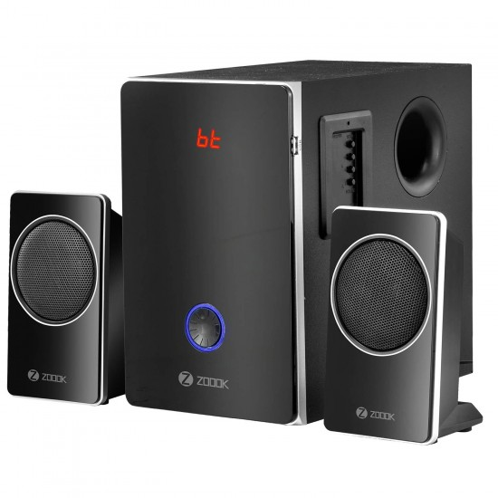 Zoook Explode 111 BT Bluetooth Multimedia 2.1 Speaker System 45W with Powerful Subwoofer