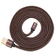 Zoook ZF-DENIM USB A to iPhone Premium Charging Cable