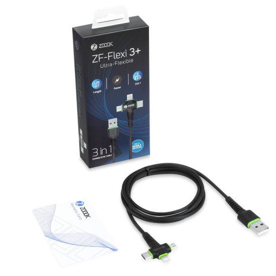 Zoook ZF-FLEXI 3+ 3 in 1 Charge/Sync Cable